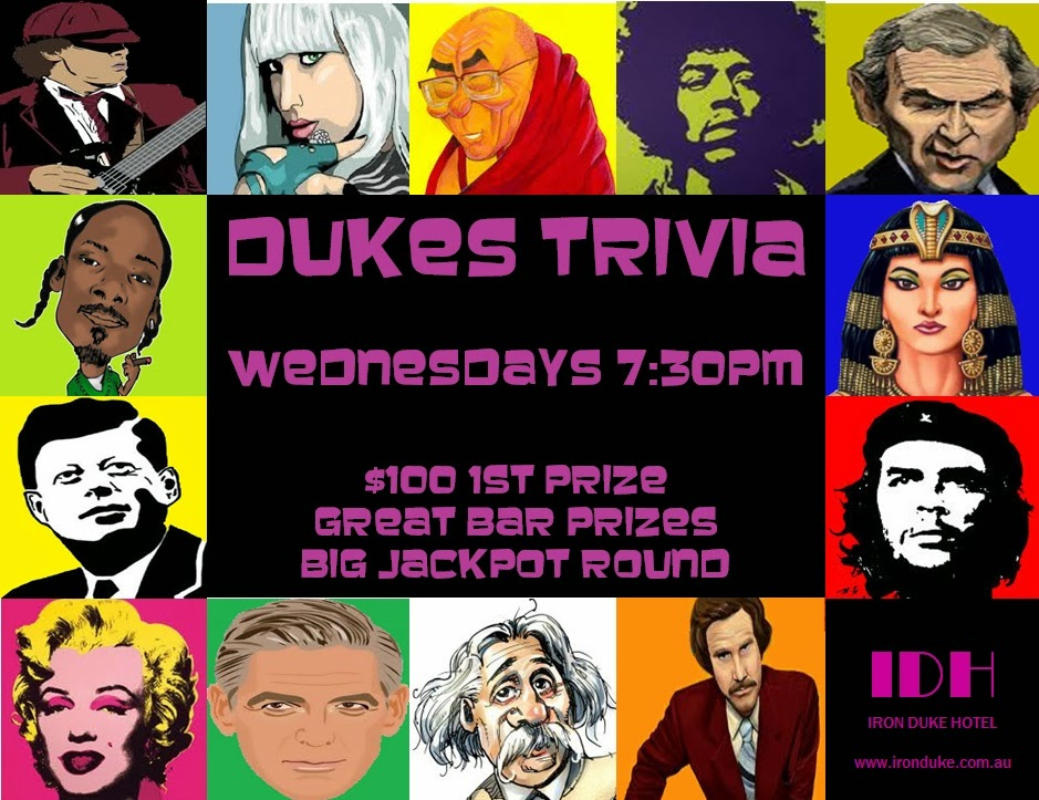 Trivia Wednesday Nights @ 7.30pm