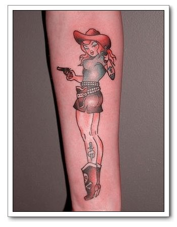 Pinup Girl Tattoo Pretty Classic and Standard