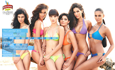 Kingfisher unveiled Calendar for 2012