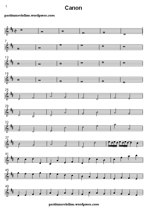 Canon in D Pachelbel  Pachelbel Canon Violin