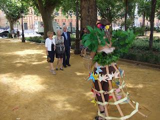 Gracia Iglesias, Jardines del Cristina, performance, el árbol lateversos, Duquesa de Alba