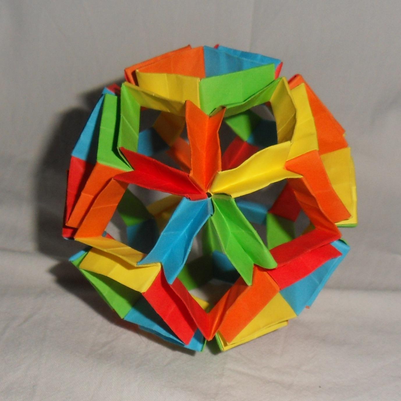 оригами, модулно оригами, фигури от хартия, играчка, Неферет