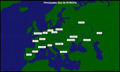 Nombre y Ubicación de los Principales Rios de Europa