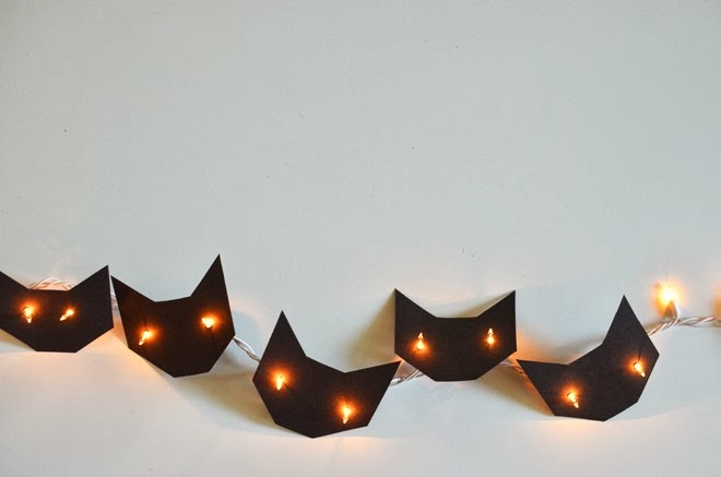 Easy halloween cat garland idea | Oyster & Pearl blog