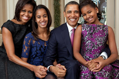 barack obama with family