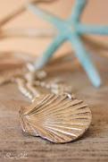 Handmade Fine Silver Seashell Pendants