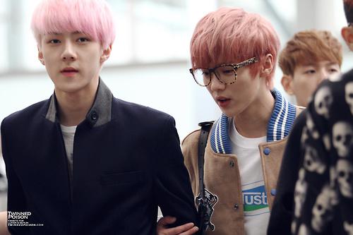 exo sehun, luhan airport style