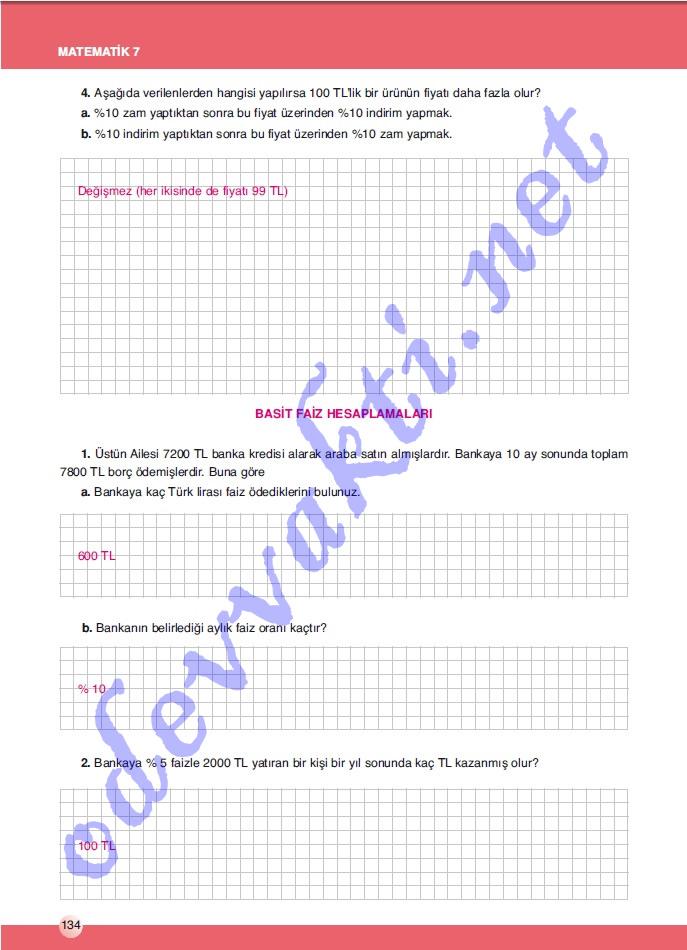 etiketler 7 sınıf matematik calışma kitabı sek