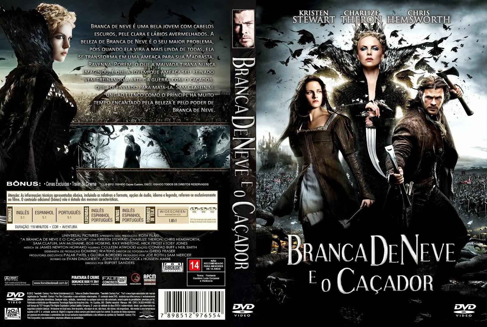 Branca de Neve e o Caçador DVD Capa