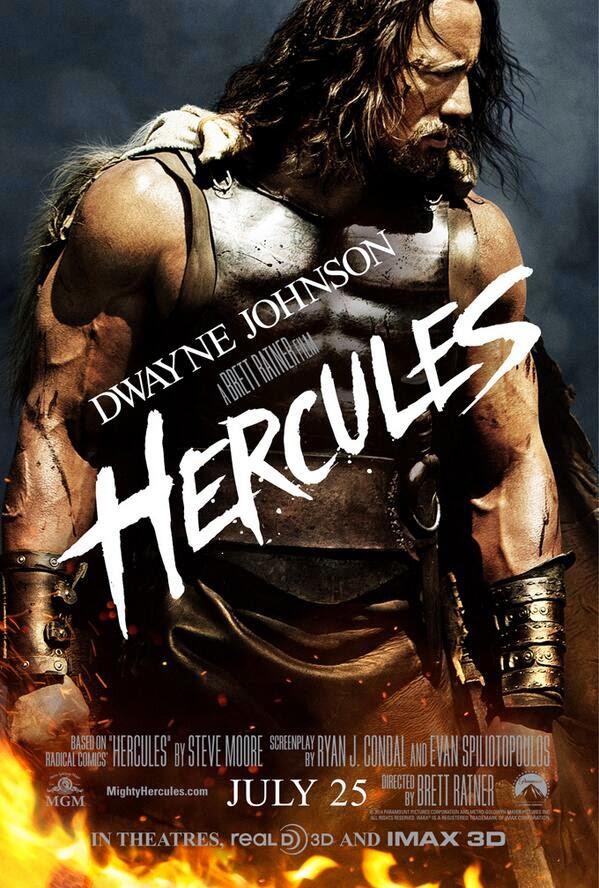 Poster de Hércules con Dwayne Johnson