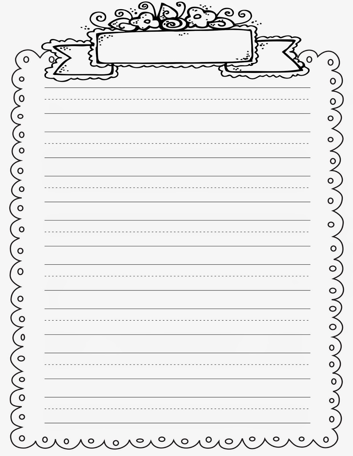First Grade Lined Writing Paper Printable Free