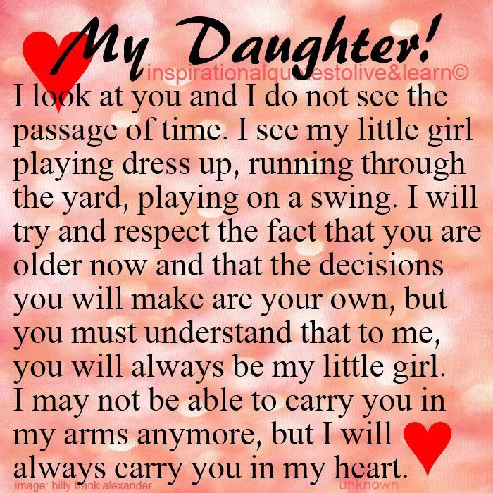 I Love You Quotes Daughter To Mother : will always carry you in my heart