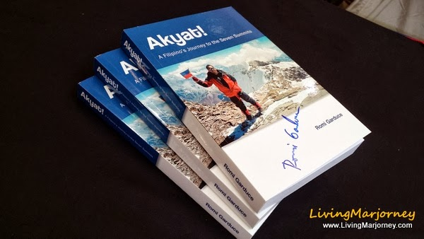 "Signed Copy of his book, ""Akyat!"""