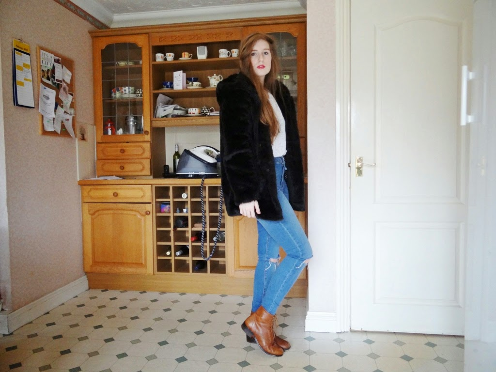 tan leather boots topshop