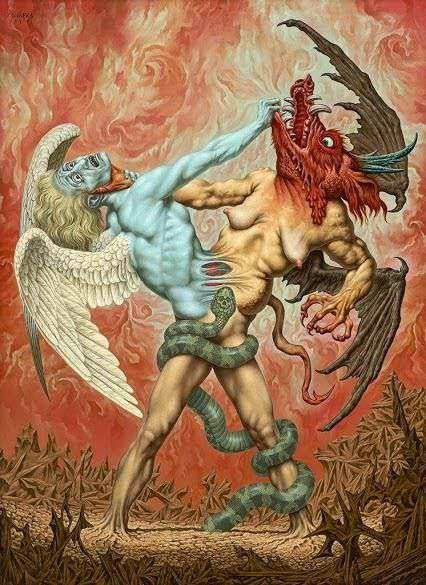 The Struggle Between Good and Evil by Johfra Bosschart