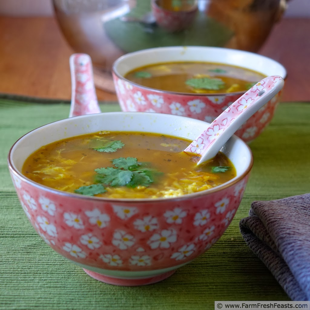 Thai Turkey Cold Busting Hot and Sour Egg Drop Soup | Farm Fresh ...