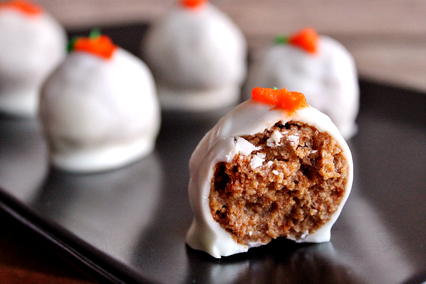 National Carrot Cake Day is February 3rd- Make these Carrot Cake Truffles and convert even the biggest chocolate cake fans to carrot!