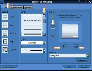 cara membuat garis bawah kop surat di microsoft word 2007