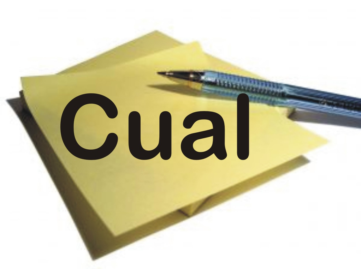 Cual: pronombre relativo e interrogativo