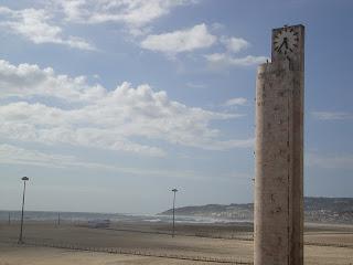 Figueira da Foz beautiful Beach Big Clock  photo - Portugal