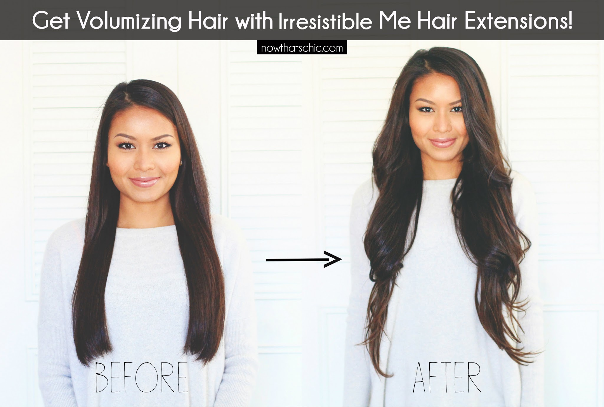 Now thats chic volumizing hair with irresistible me hair extension volumizing hair with irresistible me hair extension pmusecretfo Image collections