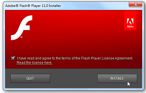 Screenshot #1 of Adobe Flash Player / Windows