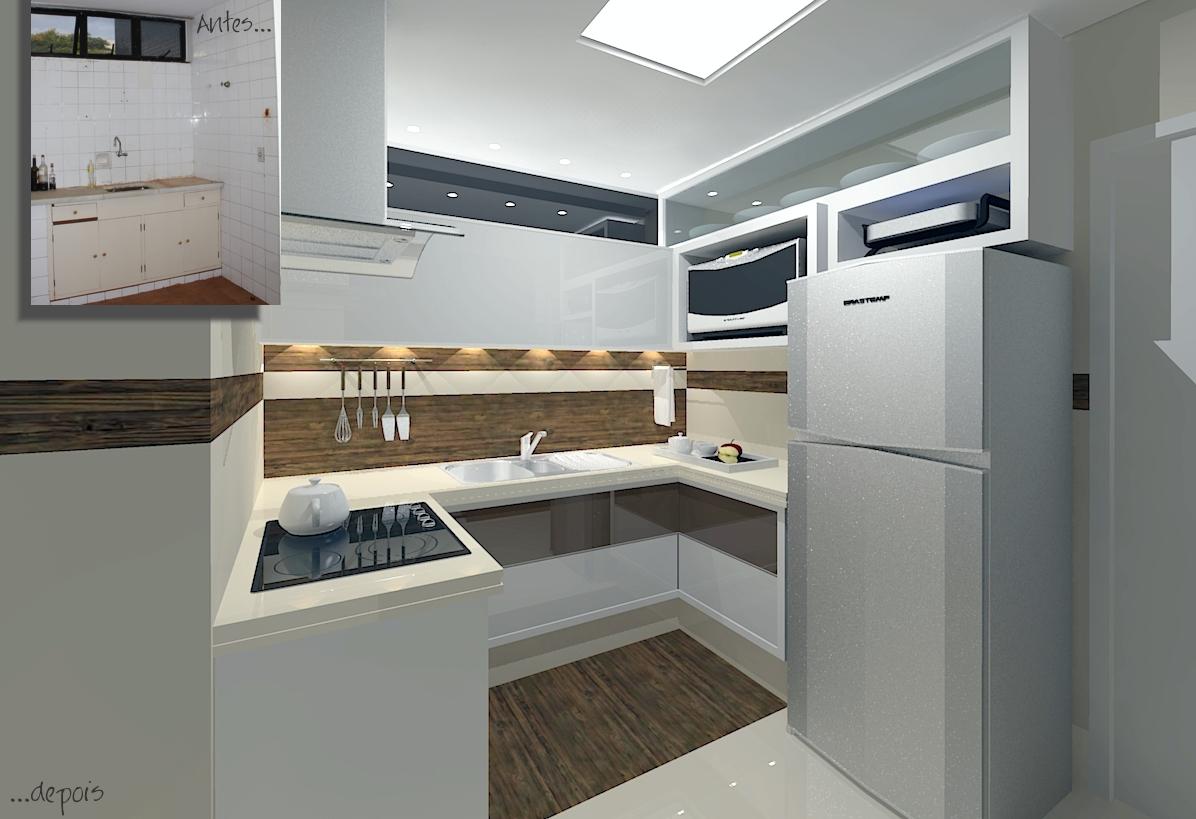 reforma apartamento residencial cozinha reforma apartamento  #5E4D38 1196 819