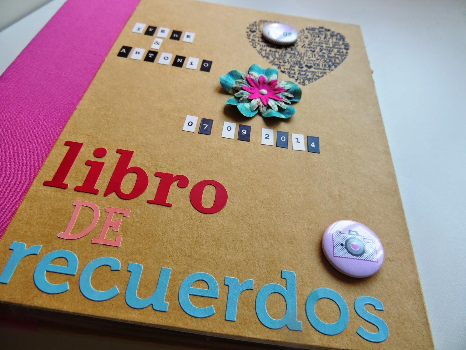 Patchandscrapwords album recuerdos boda scrapbooking for Decoracion de album de fotos