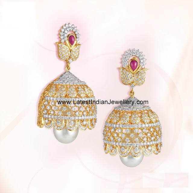 Diamond Jhumkas from GRT