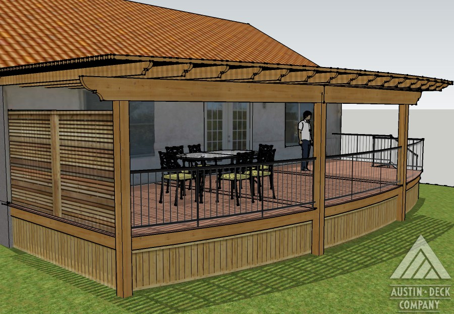 patio designs and fee