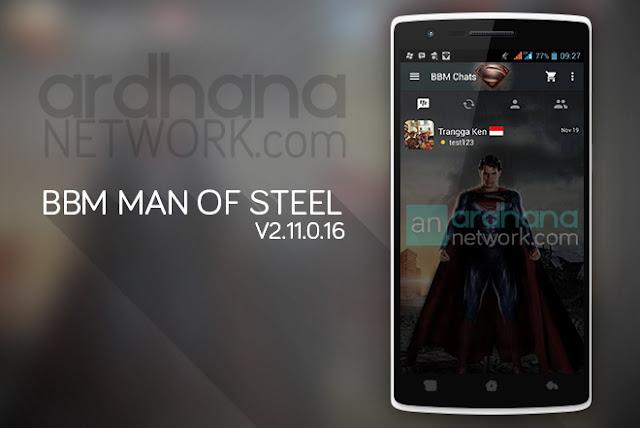 BBM Man of Steel - BBM Android V2.11.0.16