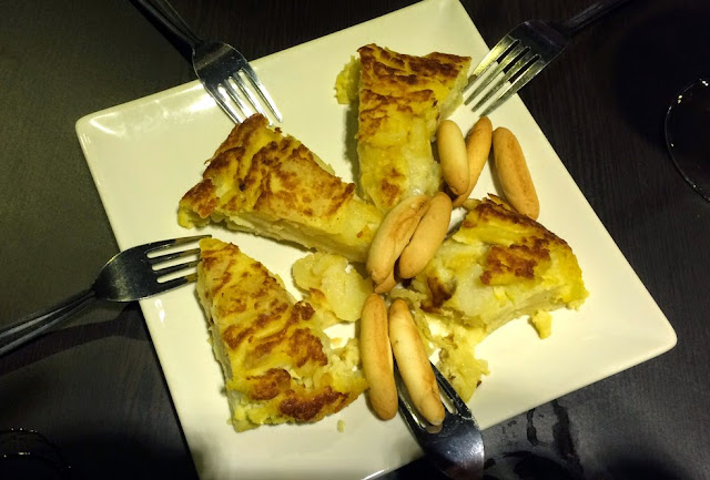 Tapa (incluida) de tortilla de patatas, Sazon Arte