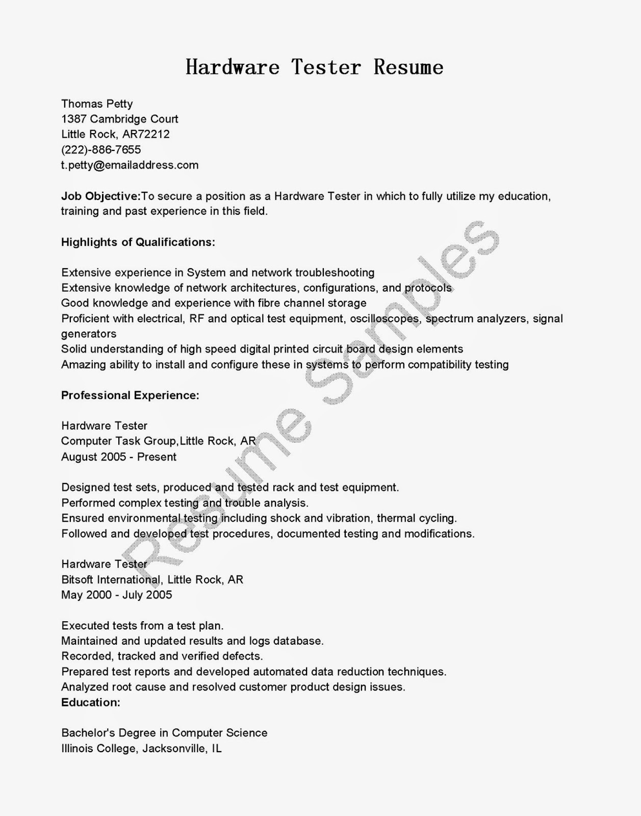 software tester cover letter example sample resume cover letter sample