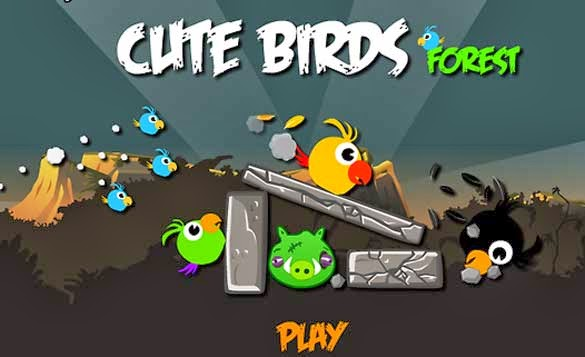 Angry Birds. Cute Birds Forest Hacked Олайн игра