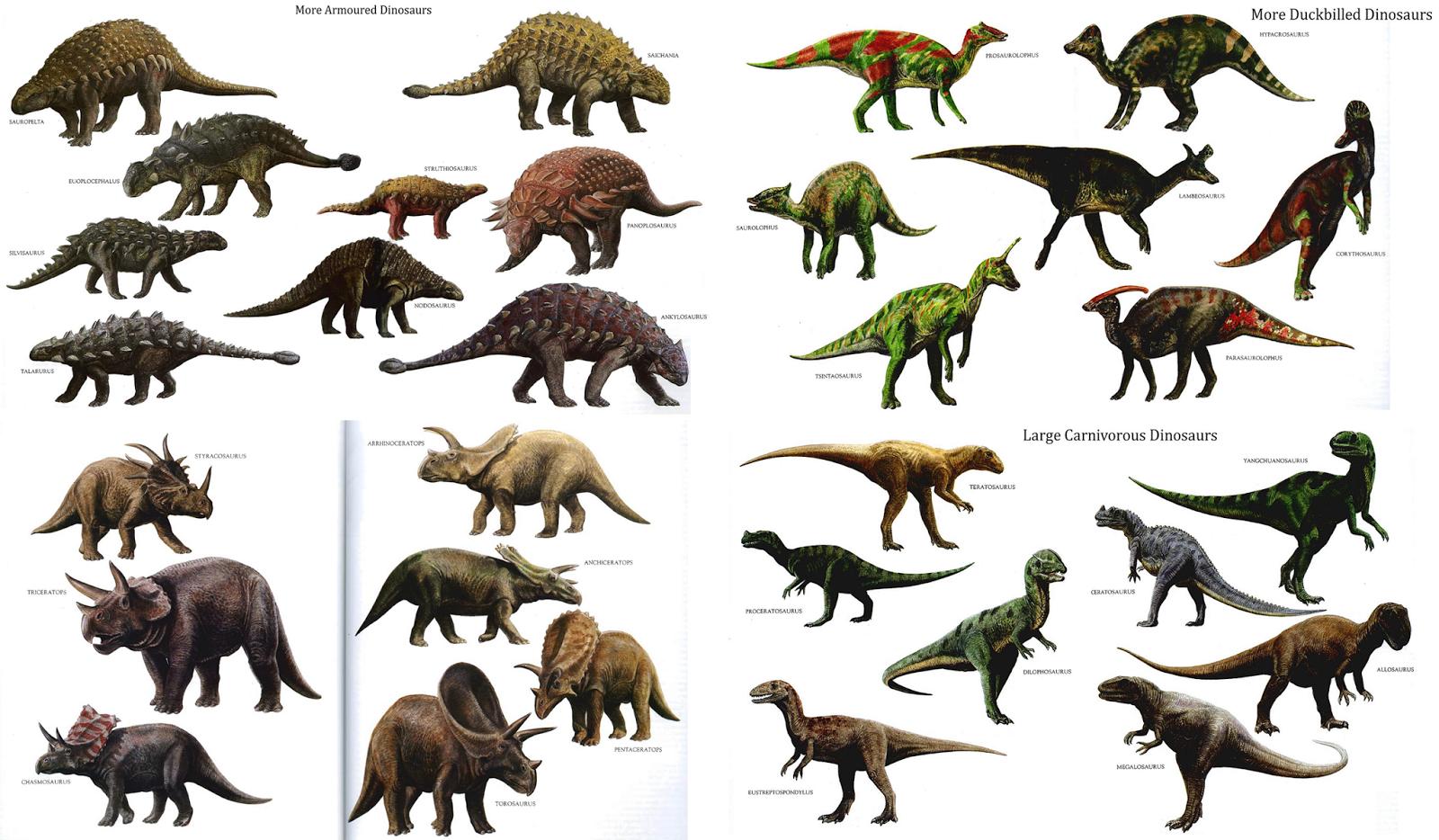 Different Dinosuars