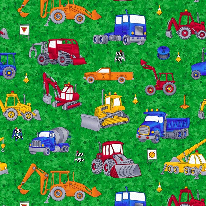 Camiones y escabadoras Patchwork