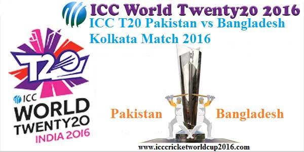 ICC T20 Pakistan vs Bangladesh Kolkata Match 2016  Result