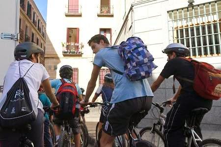 Escolares STARS en bici al cole