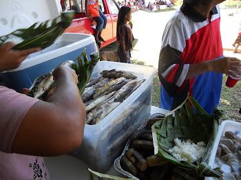 tubs of fish & rice