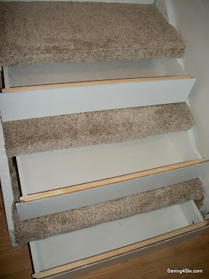 Basement Step Storage