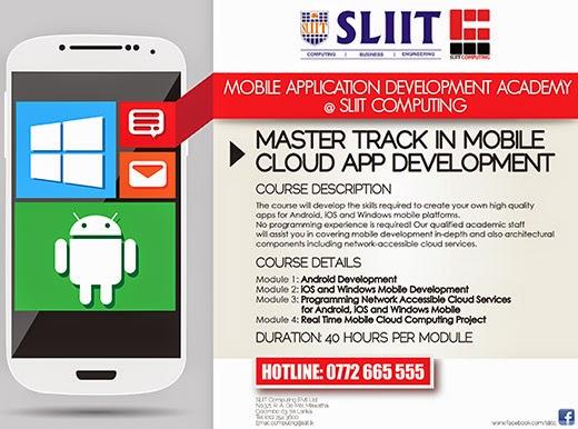 Master Track in Mobile Cloud APP Development.