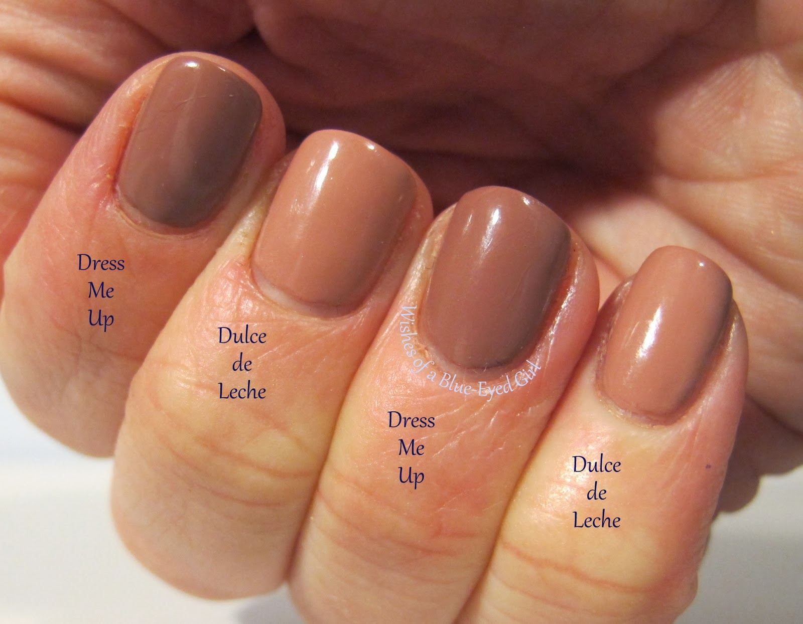 Wishes Of A Blue Eyed Comparison Thursday Dusty Pink Cremes Pion Nail Lacquer Opi Dulce De Leche Indoor Light Cry Candle