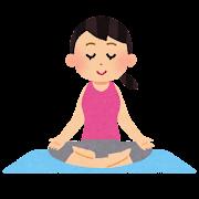 ヨガのイラスト「瞑想」