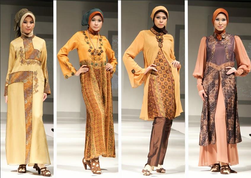 Model Baju Batik Pesta Muslimah - Batik Indonesia