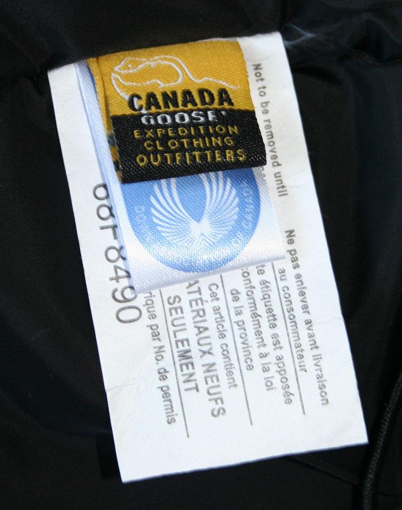 canada goose label inside