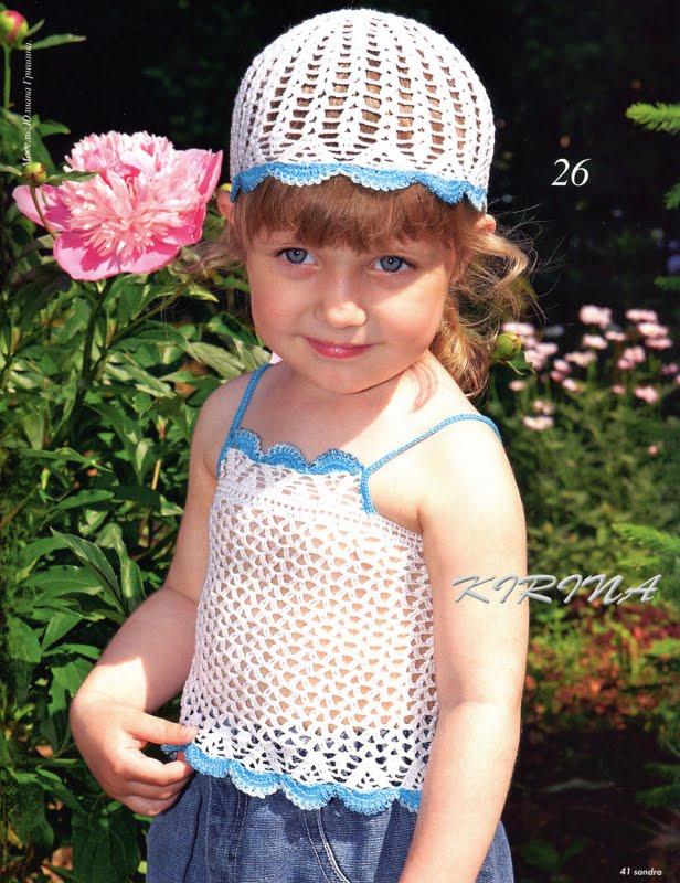В этой статье вы найдёте подробное описание вязания шапочки для девочки крючком. .  В самом конце приведена схема.