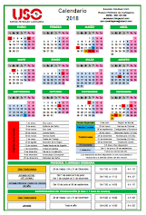 CALENDARIO LABORAL J.O. CARTAGENA 2018