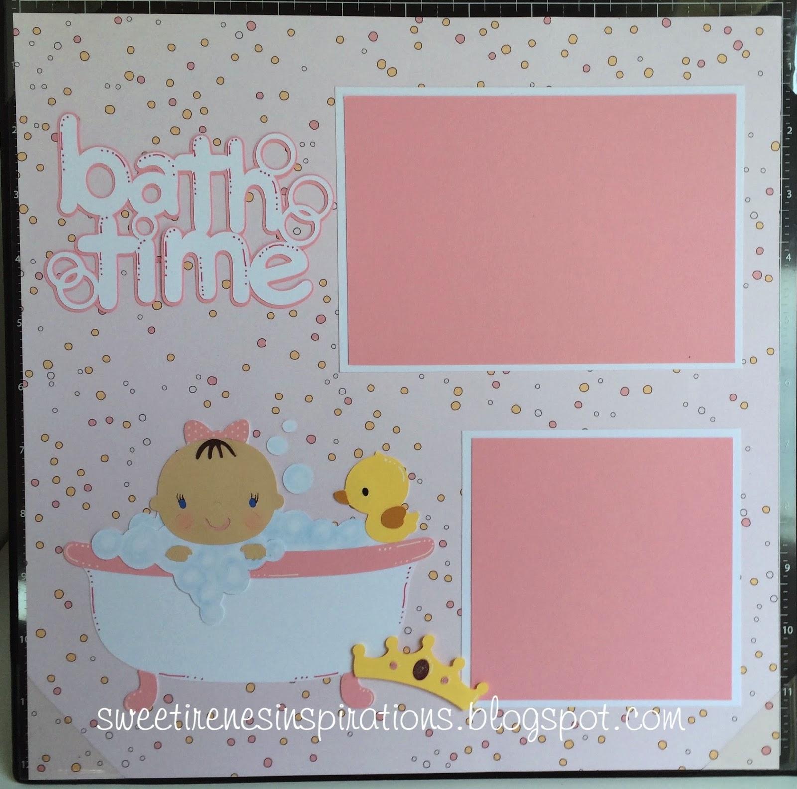 Scrapbook ideas for baby girl - Cricut Cartridges Used