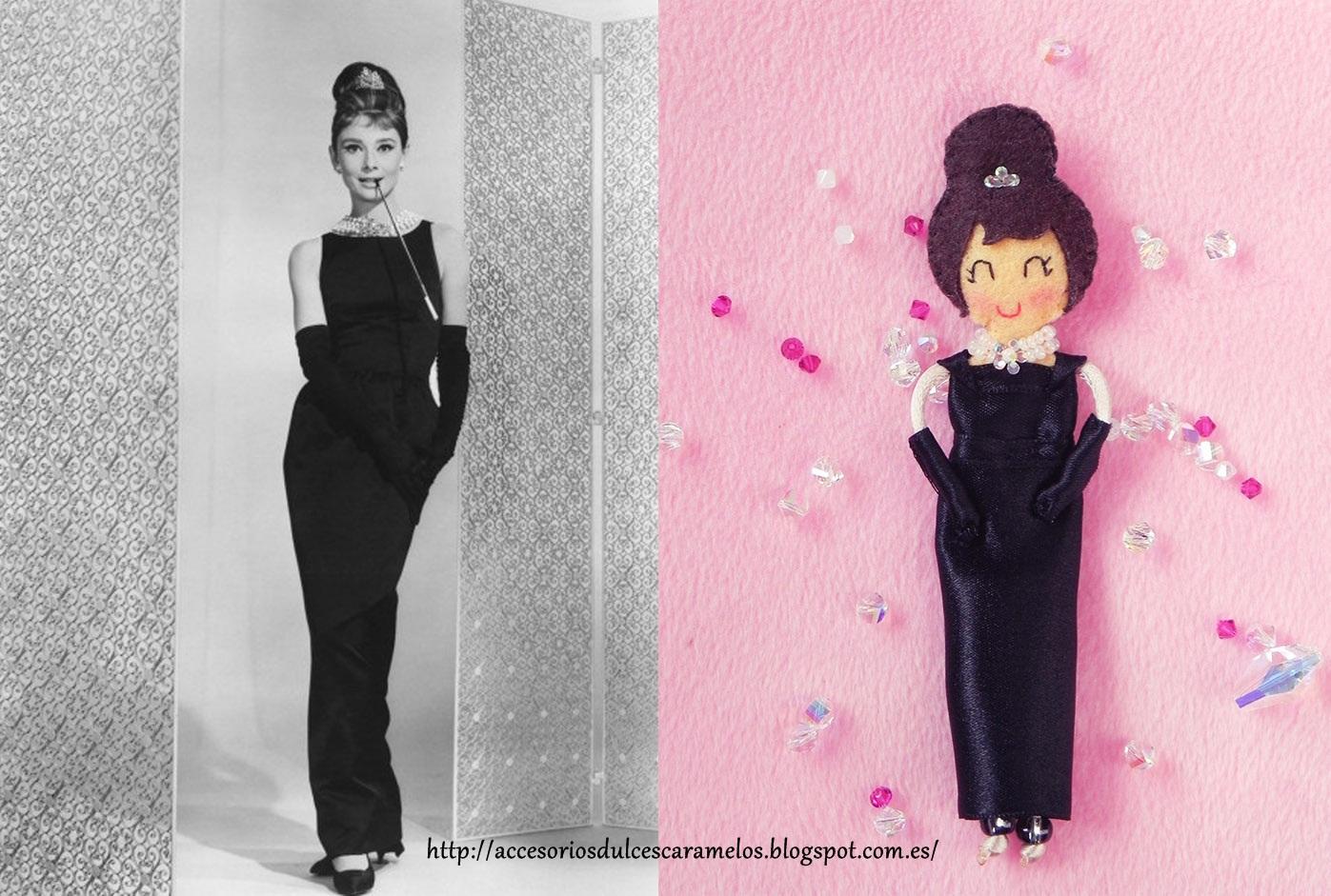Fieltro DulcesCaramelos: Audrey Hepburn fieltro