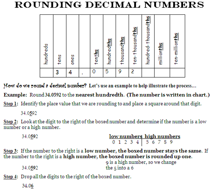 Math homework help rounding decimals Help with science in the – Rounding with Decimals Worksheet